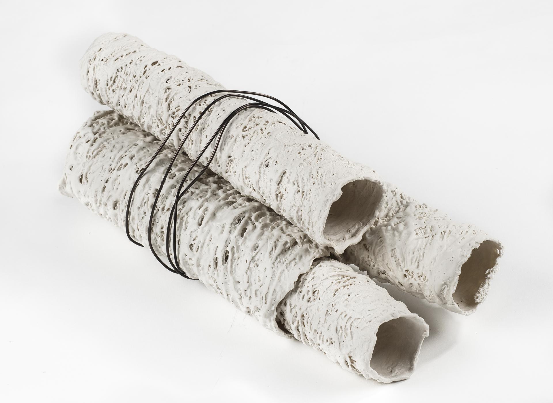 Ancient Textures - Porcelain, organic materials, aluminium - 2017