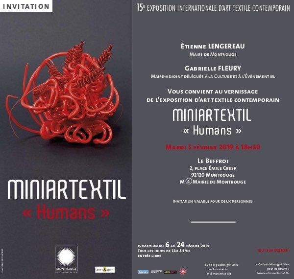 """MINIARTEXTIL """"HUMANS"""" MONTROUGE 2019"""